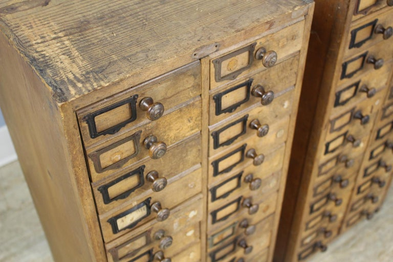 Pair of Antique Collector's Drawers in Pine For Sale 2