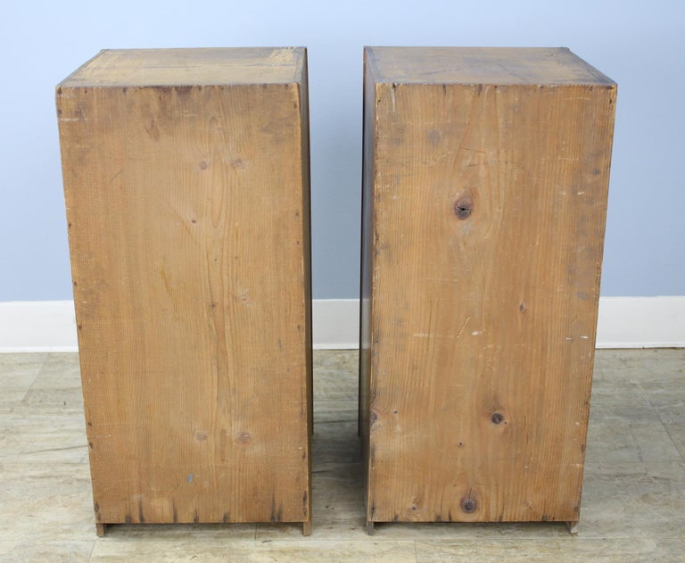 Pair of Antique Collector's Drawers in Pine For Sale 3