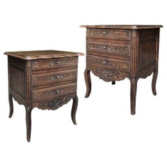 Pair of Antique Country French Provincial Commodes