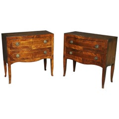 Pair of Antique Italian Provincial Style Commodes Dressers
