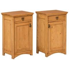Pair of Antique Danish Pine Nightstands