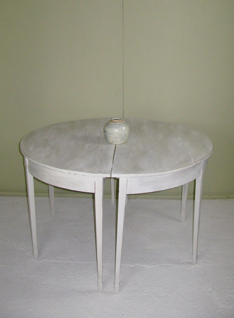 Pair of Antique Demilune 19th Century Table, English In Good Condition For Sale In  South Cotswolds, GB