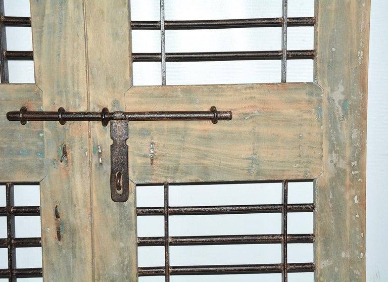 Anglo Raj Pair of Antique Doors or Shutters from India For Sale