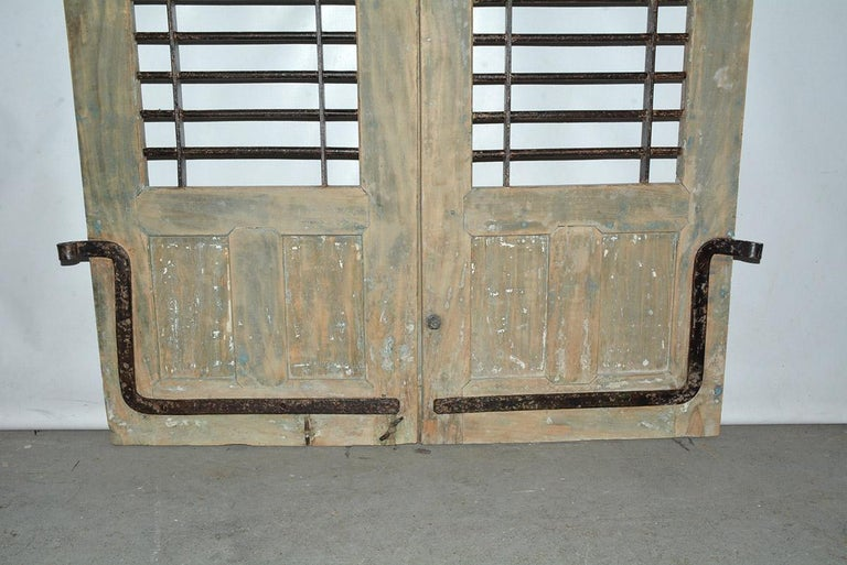 Indian Pair of Antique Doors or Shutters from India For Sale