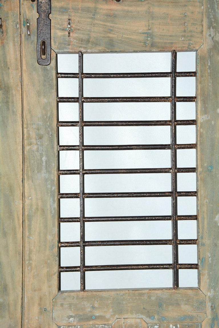 Iron Pair of Antique Doors or Shutters from India For Sale