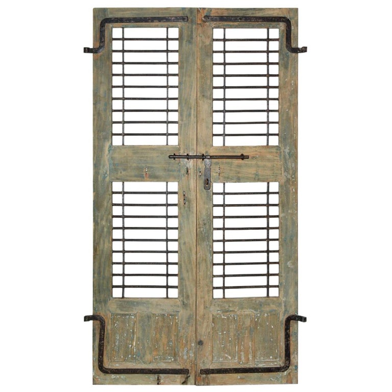 Pair of Antique Doors or Shutters from India For Sale