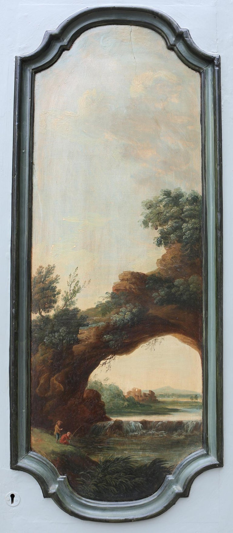 19th Century Pair of Antique Doors Painted with Classical Scenes For Sale