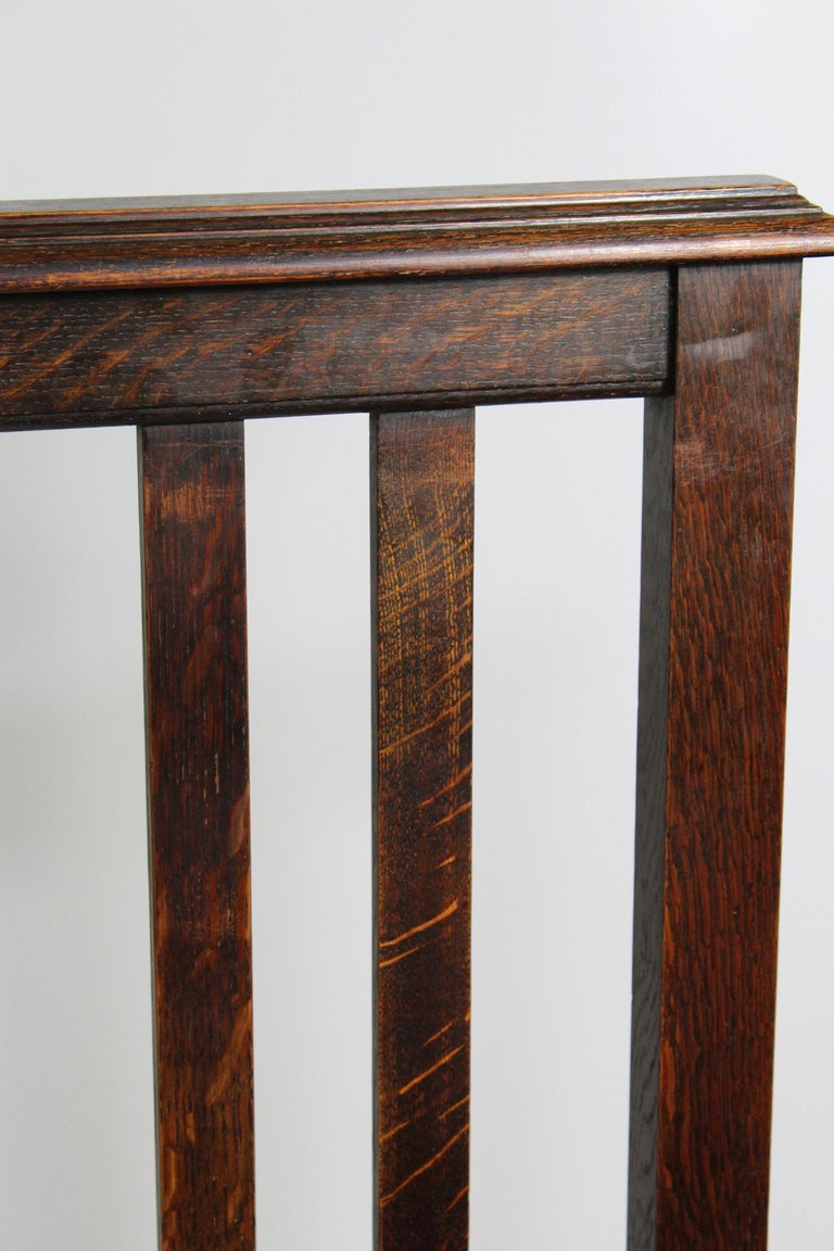 Pair of Antique Edwardian Oak Single Twin Beds, US Twin Size Bedsteads For Sale 7