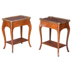 Pair of Antique Edwardian Period Kingwood Side / End Tables