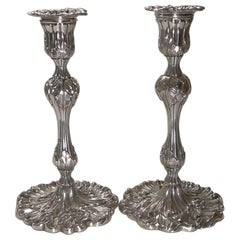 Pair of Antique English Art Nouveau Candlesticks c.1900, Art Nouveau