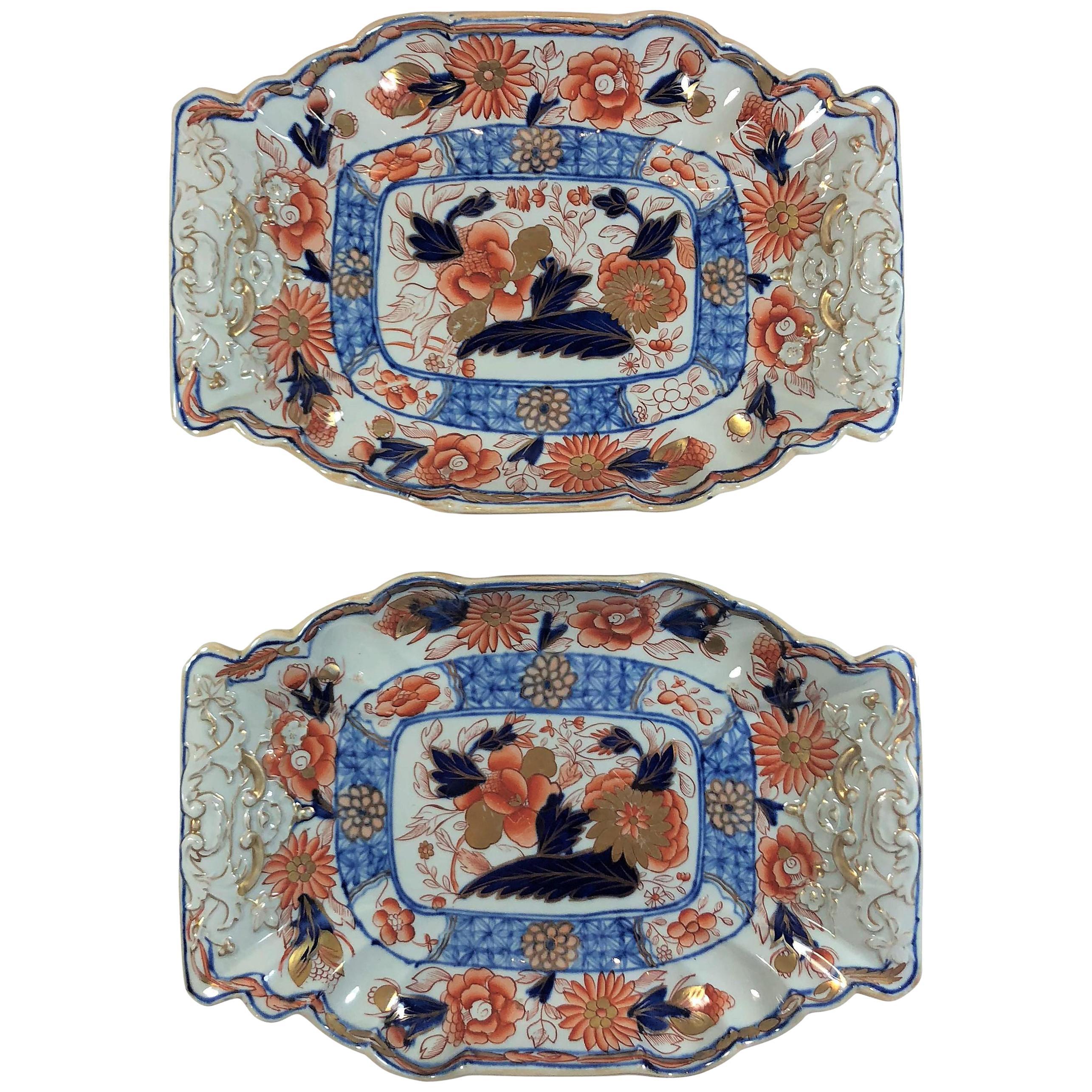 Pair of Antique English Mason's Ironstone Platters