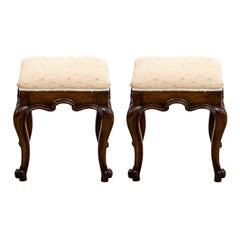 Pair of Antique English Oak Benches