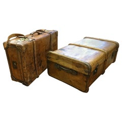 Pair of Antique English Suitcases