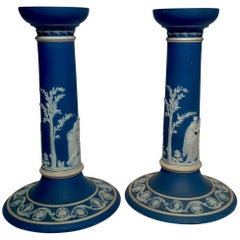 Pair of Antique English Wedgwood Candlesticks, circa 1895