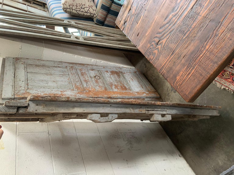 Pair of Antique European Barn Doors In Distressed Condition For Sale In Los Angeles, CA