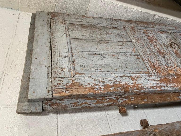 Wood Pair of Antique European Barn Doors For Sale