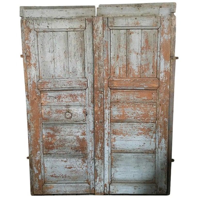 Pair of Antique European Barn Doors For Sale