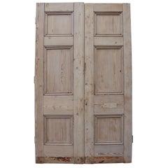 Pair of Antique Exterior Pine Doors