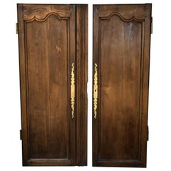 Pair of Antique French 18th Century Carved Wooden Doors