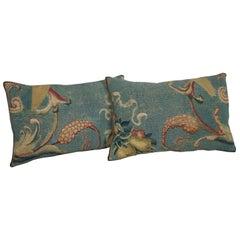 Pair of Antique French Aubusson Pillows circa 18th Century 1756p 1757p