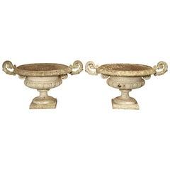 Pair of Antique French Cast Iron Vases, circa 1880