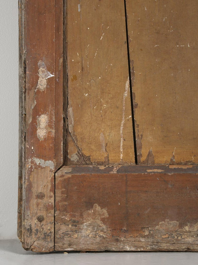Pair of Antique French Doors in Original Paint and Great Hardware 11