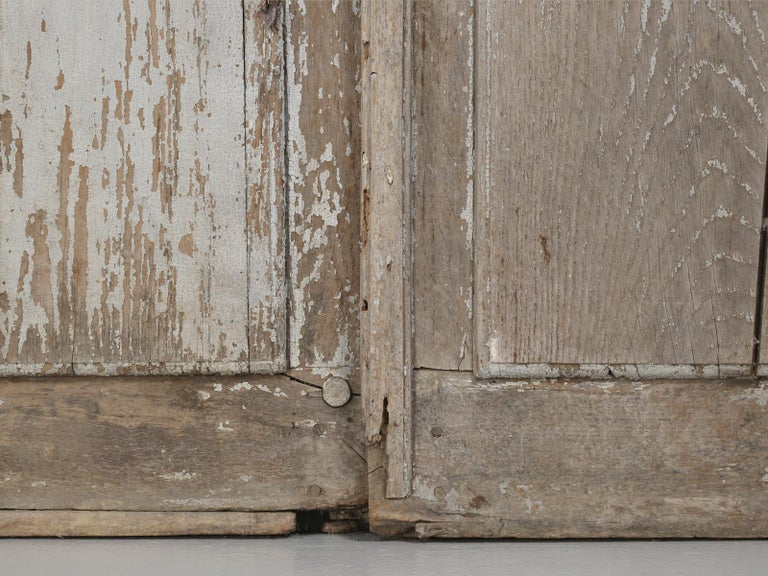 Pair of Antique French Doors in Original Paint and Great Hardware 1