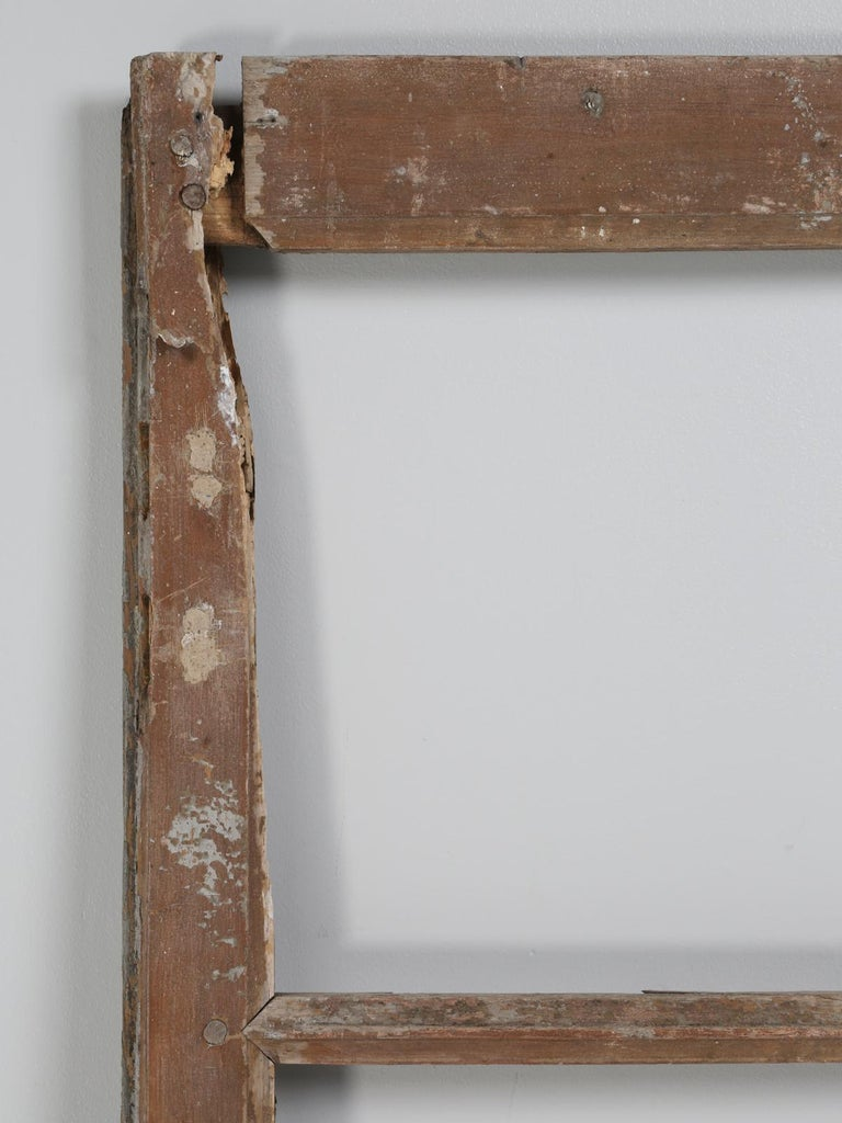 Pair of Antique French Doors in Original Paint and Great Hardware 3
