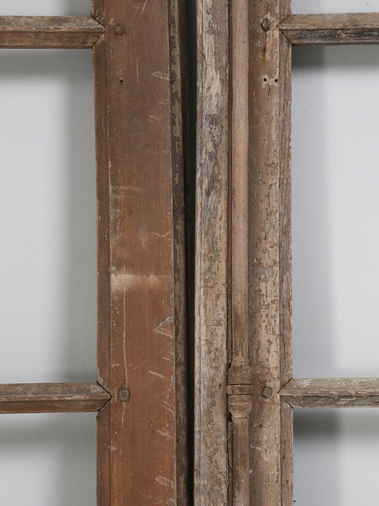 Pair of Antique French Doors in Original Paint and Great Hardware 6