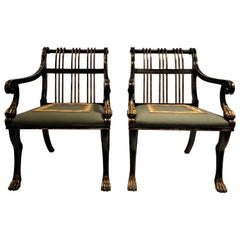 Pair of Antique French Early 20th Century Neoclassical Armchairs