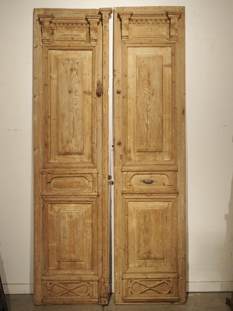 Pair of Antique French Egyptian Doors, Early 1900s For Sale 10
