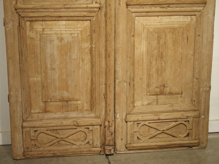 Pair of Antique French Egyptian Doors, Early 1900s In Good Condition For Sale In Dallas, TX