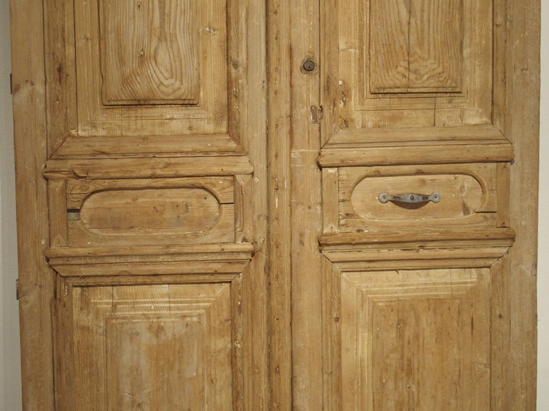 20th Century Pair of Antique French Egyptian Doors, Early 1900s For Sale