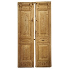 Pair of Antique French Egyptian Doors, Early 1900s