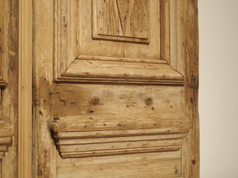 Pair of Antique French Egyptian Pine Doors with Carved Bird Motifs For Sale 2