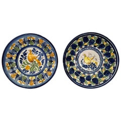 Pair of Antique French Faience Chargers