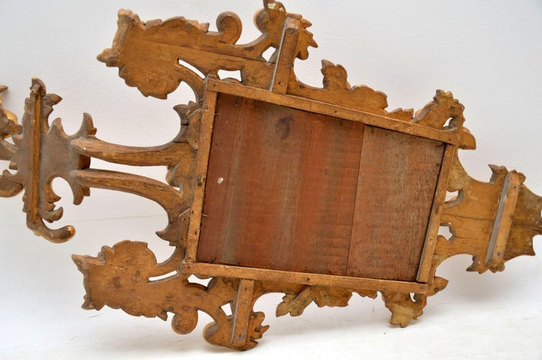 Pair of Antique French Gilt Wood Mirrors For Sale 7