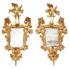 Pair of Antique French Giltwood Mirrors