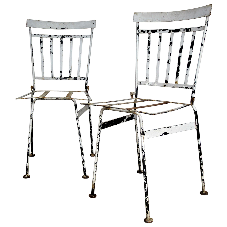 French Iron Garden Bistro Chairs
