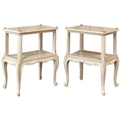 Pair of Antique French Louis XV Painted End Tables