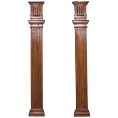 Pair of Antique French Louis XVI Architectural Pilasters, France, circa 1790