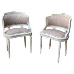 Pair of Antique French Louis XVI Painted Armchairs