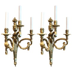 Pair of Antique French Louis XVI Wall Sconces