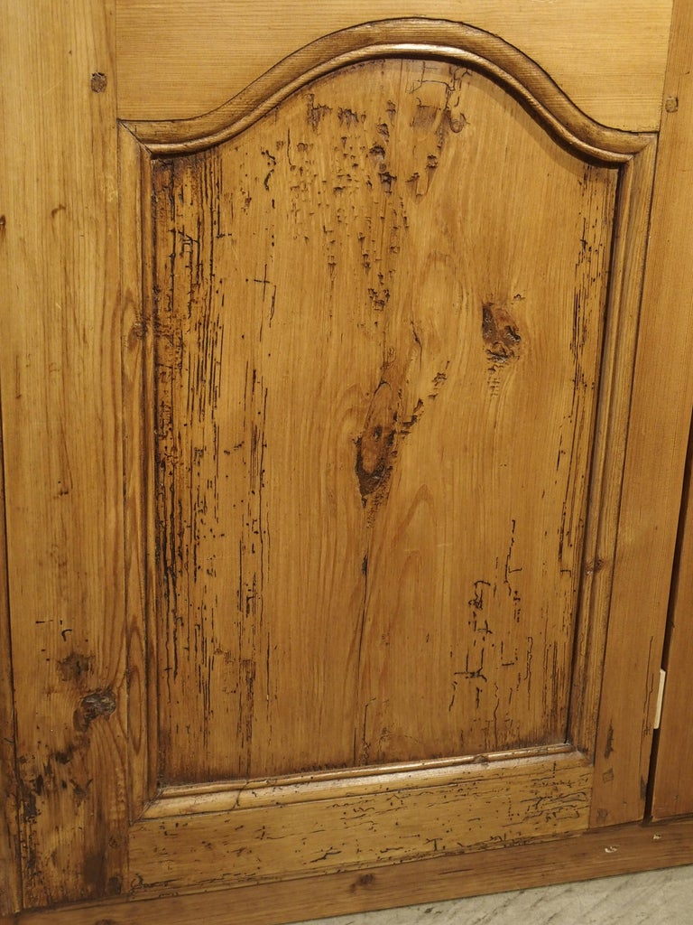 Pair of Antique French Pine Cabinet Doors, 19th Century For Sale 5