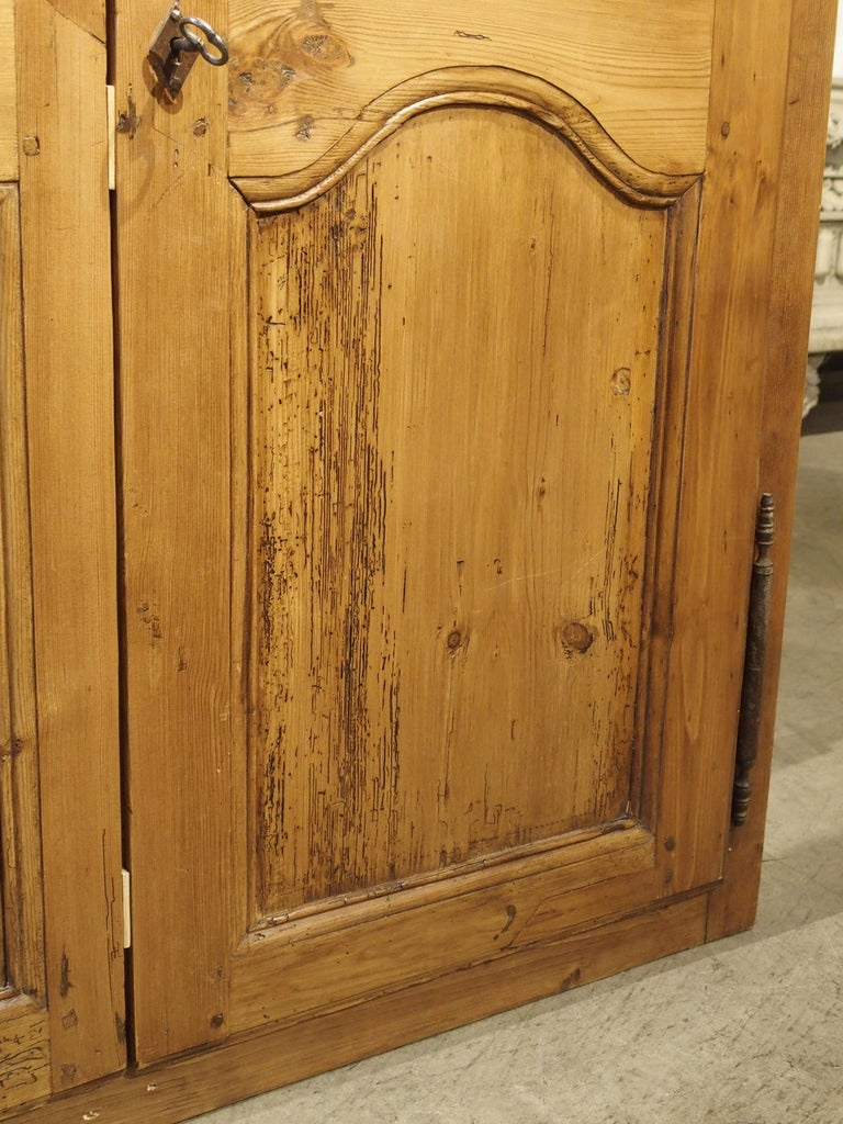 Pair of Antique French Pine Cabinet Doors, 19th Century For Sale 6