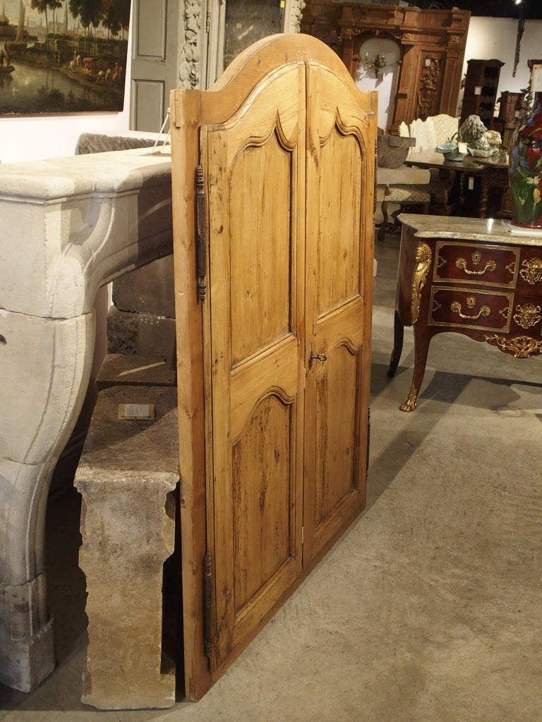 Pair of Antique French Pine Cabinet Doors, 19th Century For Sale 9