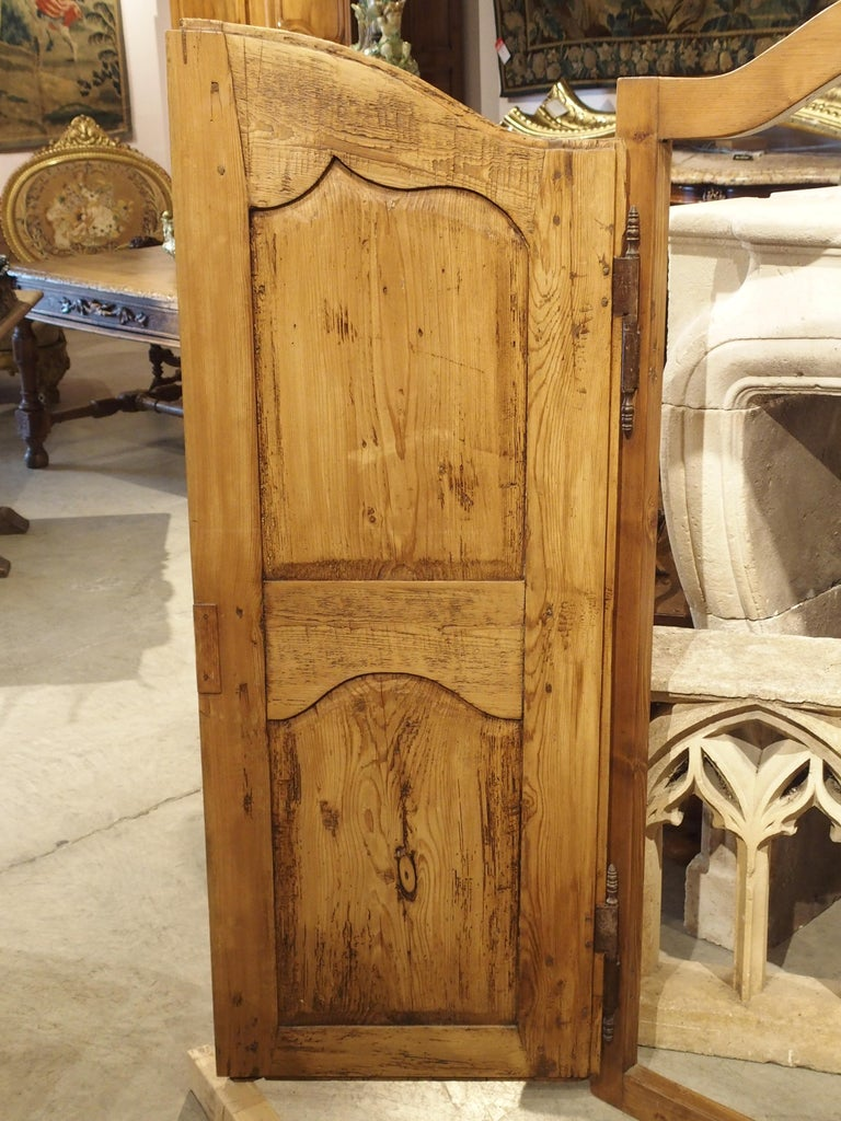 Pair of Antique French Pine Cabinet Doors, 19th Century For Sale 11