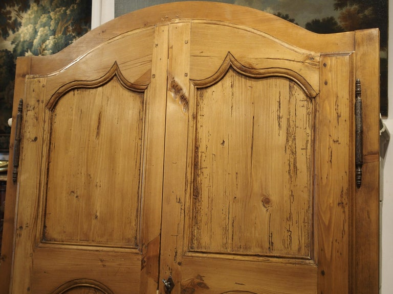 Pair of Antique French Pine Cabinet Doors, 19th Century For Sale 1