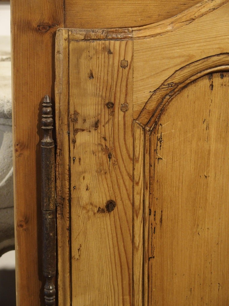 Pair of Antique French Pine Cabinet Doors, 19th Century For Sale 2