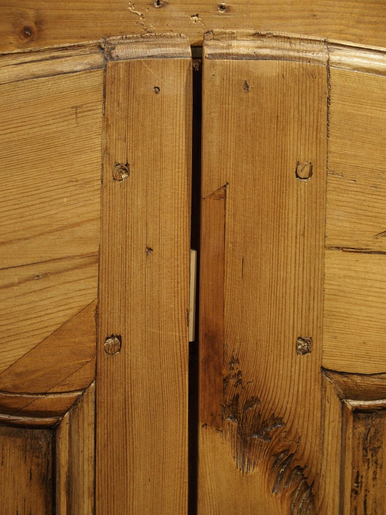 Pair of Antique French Pine Cabinet Doors, 19th Century For Sale 3